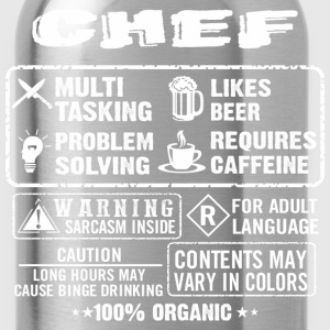 CHEF funny and humor - Water Bottle