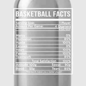 BASKETBALL FACTS basketball girlfriend and cute - Water Bottle