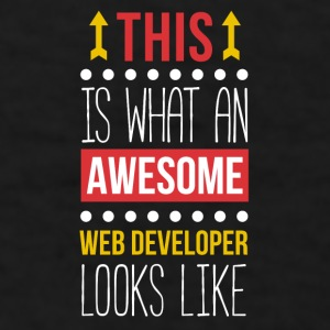 Awesome Web Developer Professions T Shirt Mugs & Drinkware - Men's T-Shirt