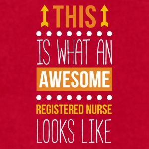 Awesome Registered Nurse Professions T Shirt Mugs & Drinkware - Men's T-Shirt by American Apparel