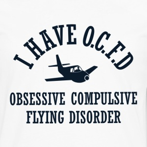 Funny Obsessive Flying Disorder - Men's Premium Long Sleeve T-Shirt