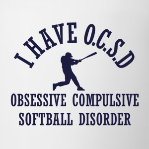 Funny Obsessive Softball Disorder - Coffee/Tea Mug