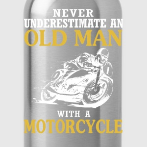 OLD MAN WITH A MOTORCYCLE - Water Bottle