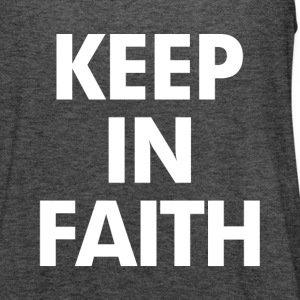 Keep In Faith Women's T-Shirts - Women's Flowy Tank Top by Bella