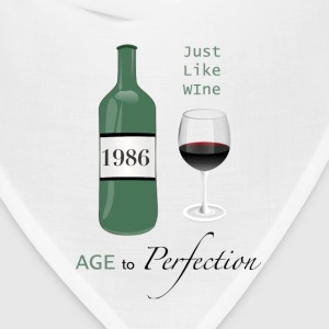 Just like wine 1986 30th Birthday - Bandana
