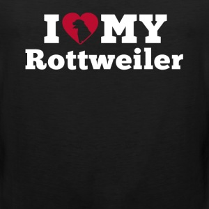 I Love My Rottweiler Women's T-Shirts - Men's Premium Tank