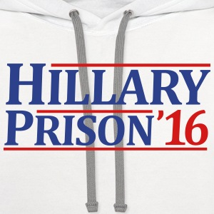 Hillary Prison 2016 - Contrast Hoodie
