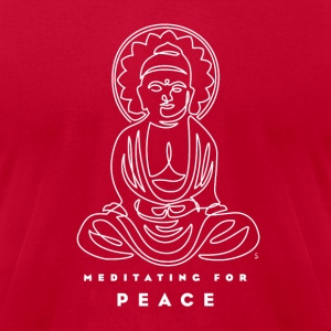 Meditating for Peace III - Men's T-Shirt by American Apparel