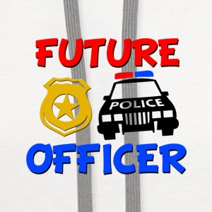 Future Police Officer Baby Shirt - Contrast Hoodie