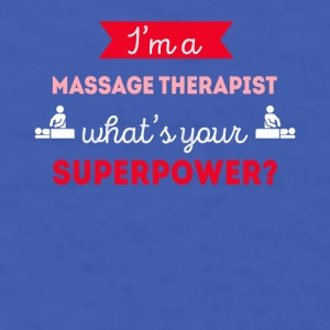 Massage Therapist Superpower Professions T Shirt Mugs & Drinkware - Men's T-Shirt