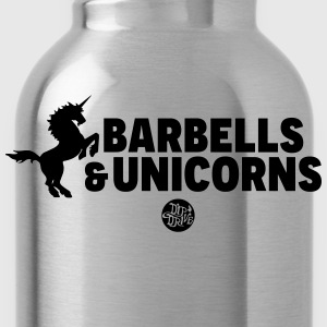 Barbells and Unicorns Tanks - Water Bottle
