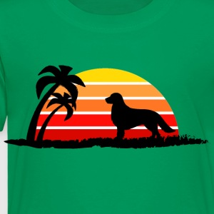 Golden Retriever on Sunset Beach - Toddler Premium T-Shirt