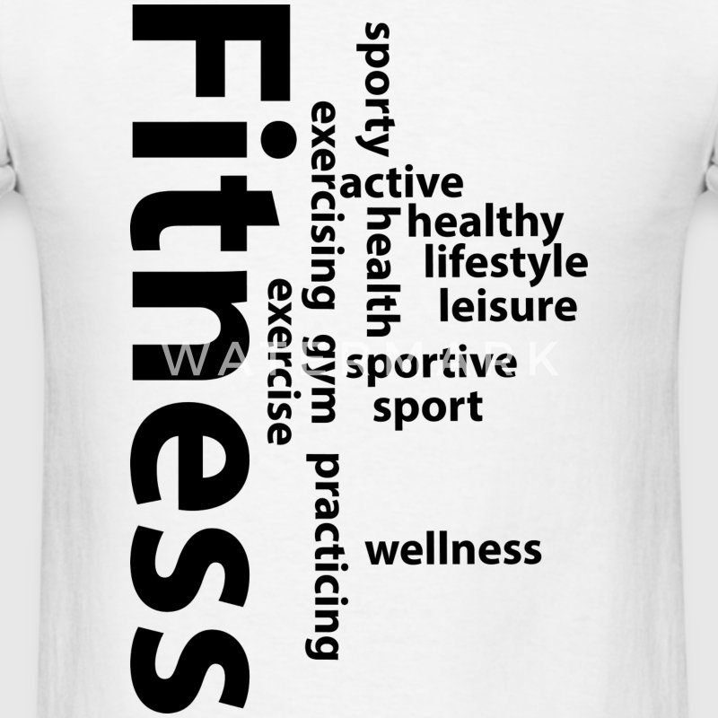 Fitness words T-Shirts - Men's T-Shirt