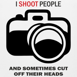 I shoot people photo - Men's Premium Tank