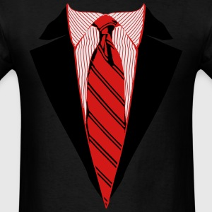 Suit and Tie Tee, Coat and Tie T-shirt Long Sleeve Shirts - Men's T-Shirt