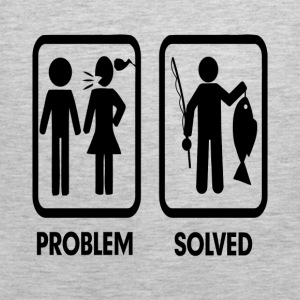 Problem Solved Fishing Marriage FUNNY Hoodies - Men's Premium Tank