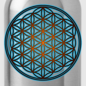 Flower of life, sacred geometry, spirituality,  - Water Bottle