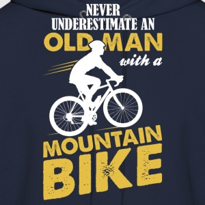 Never Underestimate An Old Man With A Mountain Bi T-Shirts - Men's Hoodie