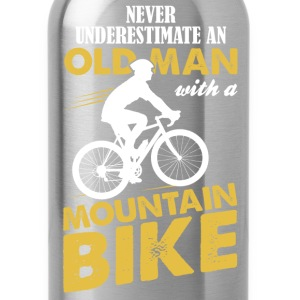 Never Underestimate An Old Man With A Mountain Bi T-Shirts - Water Bottle