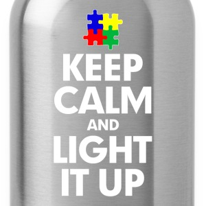 Autism Keep Calm and Light It Up Women's T-Shirts - Water Bottle