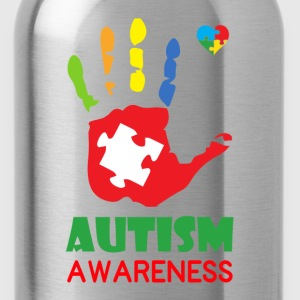 Autism Awareness Hand Color Women's T-Shirts - Water Bottle