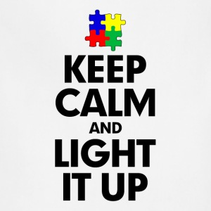Autism Keep Calm and Light It Up Women's T-Shirts - Adjustable Apron