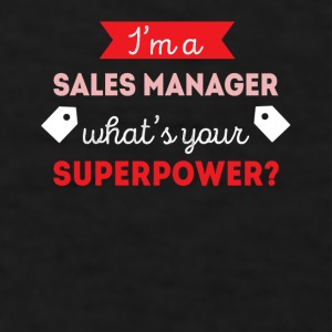 Sales Manager Superpower Professions T Shirt Mugs & Drinkware - Men's T-Shirt