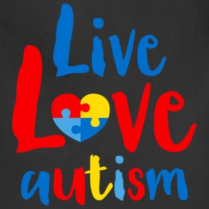 Live Love Autism Women's T-Shirts - Adjustable Apron