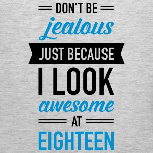Awesome At Eighteen Women's T-Shirts - Men's Premium Tank