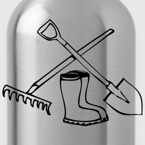 Garden shovel rake gummistiefel T-Shirts - Water Bottle