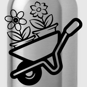 Garden wheelbarrow flowers T-Shirts - Water Bottle