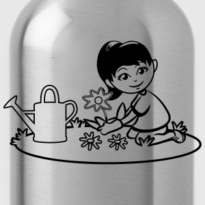 Garden watering flowers plants T-Shirts - Water Bottle
