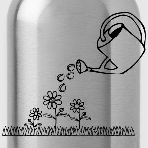 Garden flowers watering T-Shirts - Water Bottle