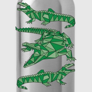 Geometric Crocodiles  Bags & backpacks - Water Bottle