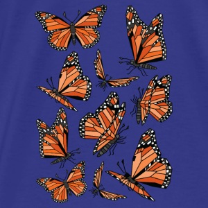 Geometric Monarch Butterfly  Bags & backpacks - Men's Premium T-Shirt