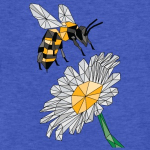 Geometric Bee & Flower Sweatshirts - Fitted Cotton/Poly T-Shirt by Next Level