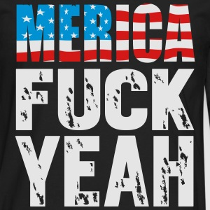 Merica fuck yeah T-Shirts - Men's Premium Long Sleeve T-Shirt