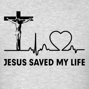 Jesus Saved My Life Cross Christian  Sportswear - Men's T-Shirt