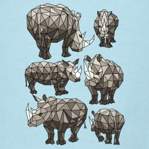Geometric Rhinos Baby Bodysuits - Men's T-Shirt