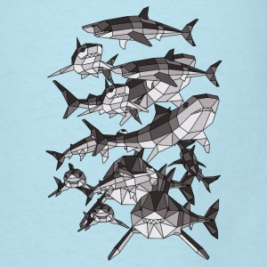 Geometric Sharks Baby Bodysuits - Men's T-Shirt