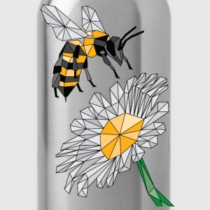 Geometric Bee & Flower Tanks - Water Bottle