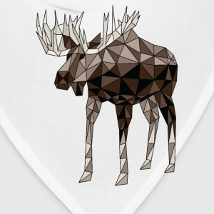 Geometric Moose Women's T-Shirts - Bandana