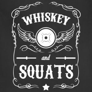 Whiskey and Squats T-Shirts - Adjustable Apron