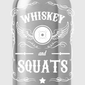 Whiskey and Squats T-Shirts - Water Bottle