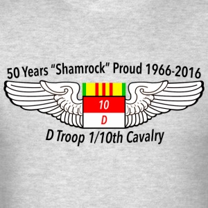 D Troop 50th Anniversary Hanes Long Sleeve GRAY - Men's T-Shirt