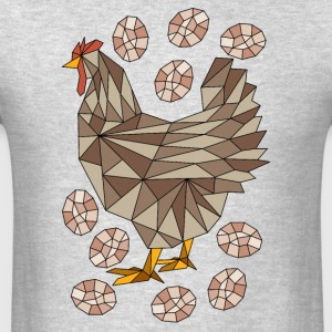 Geometric Chicken And Eggs Sportswear - Men's T-Shirt