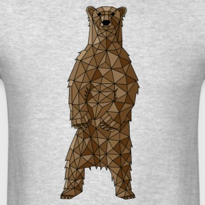 Geometric Brown Bear Sportswear - Men's T-Shirt