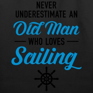 Never Underestimate An Old Man Who Loves Sailing T-Shirts - Eco-Friendly Cotton Tote
