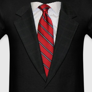 Suit and Tie Real Long Sleeve Shirts - Men's T-Shirt