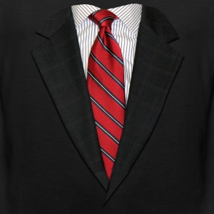 Suit and Tie Real Long Sleeve Shirts - Men's Premium Tank